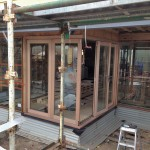Urban Bi-Folds - Timber bi-fold 5-door corner unit