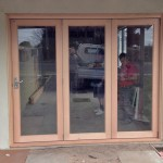Urban Bi-Folds - Timber bi-fold 3-door unit closed - New home