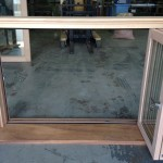 Urban Bi-Folds - Timber 3-door servery unit open