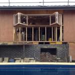 Urban Bi-Folds - Timber bi-fold 4-door servery installed - Centre opening