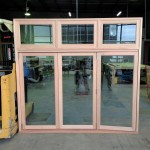 Urban Bi-Folds - Timber bi-fold 3-door unit with highlights - Assembled in factory